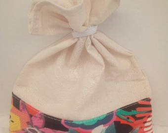 Bag in bulk. zero waste. Great for market or shopping at the health food store etc... Fabric choice or tissue surprise