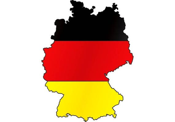 Germany German Europe Country World National Nation Flag Map