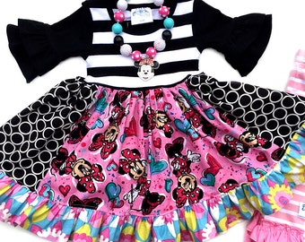 Disney Minnie Mouse Bowtique Momi boutique custom dress
