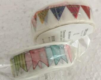 Beautiful Bunting Washi Tape - Various Designs