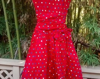 Sale! My Girl is Red Hot: Polka Dot Party Dress