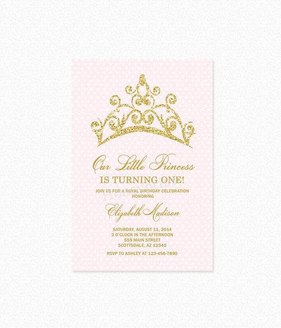 Princess tiara birthday party invitation princess birthday filmwisefo Image collections