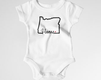 Oregon Home Onesie ~ 2 Colors available!