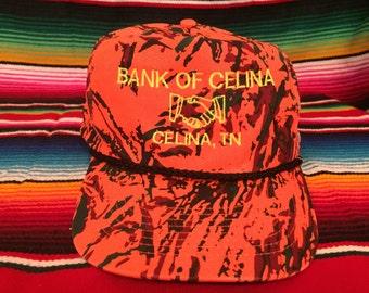 Bank of Celina, TN Tennessee Orange Camouflage snapback hat