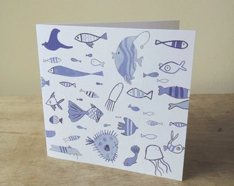 Illustrated Card: School of Fishes