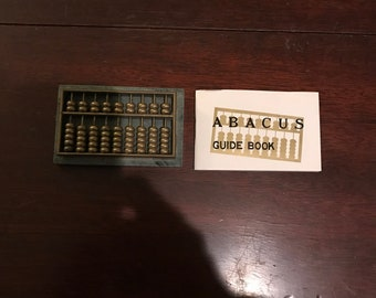 Vintage Brass and Marble Abacus