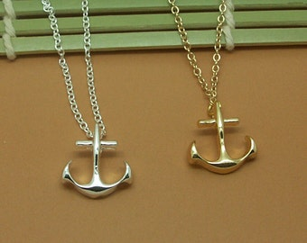 Dainty Anchor Necklace in Gold/Silver NB646
