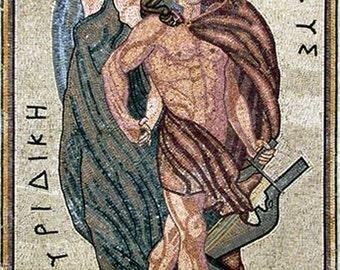 Apollo and Artemis Mosaic Roman Art