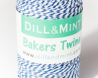 200m of Cotton striped twine, ideal for crafting in a variety of colours