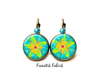 The Islands Turquoise★ GM ★Fleur earrings