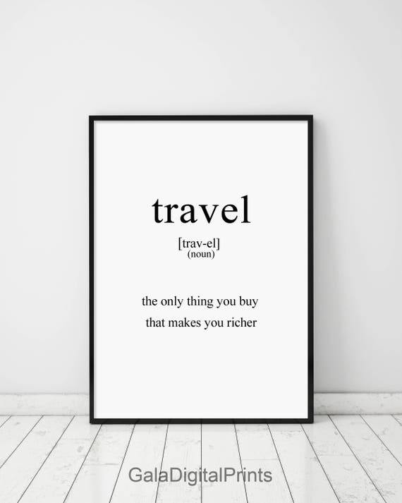 Travel Travel Definition Definition Poster Definition