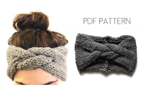 Braided Headband Pdf Knitting Pattern By Westlake Designs From