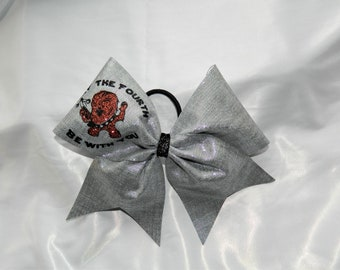 May the Fourth Be With You Cute Chewbacca Star Wars Inspired Cheer Bow Hair Bow