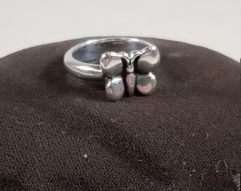 Vintage James Avery 925 Sterling Silver 3D Butterfly Ring Size 5.5 Retired