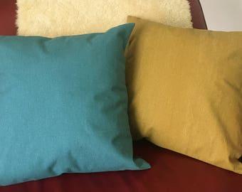 Last one!! Set of 2/3/4 - Cushion cover, pillow cover,  japanese fabric, cotton/linen fabric, 40cm, 45cm, 50cm, 55cm, 60cm