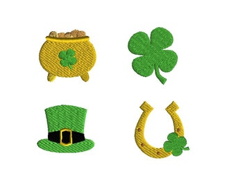 Mini St Patrick's Day Machine Embroidery Design Set-INSTANT DOWNLOAD