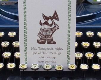 Teenymoot, God of Short Meetings Card