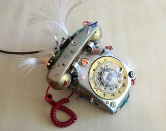 Short Circuit - Decorated Vintage Rotary Phone