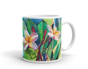 Mug - Plumeria Garden - 11 oz. or 15 oz.