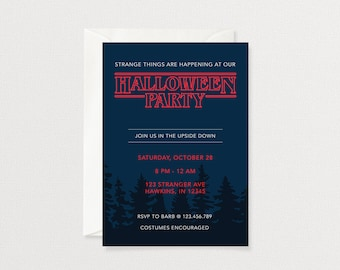 Stranger Things Party Invitation | Halloween Party Invitation | Customized Printable Invitation
