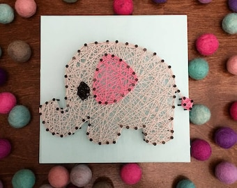 MADE TO ORDER Elephant String Art