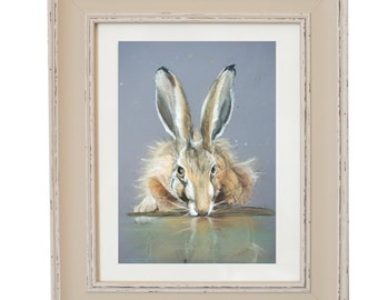 Reflection- Limited Edition Hare Signed Print