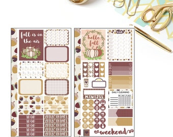 Fall Personal Planner Stickers for Kikkik/ Filofax and Kate Spade
