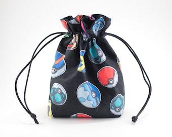 Pokemon Pokeballs Drawstring Bag, Dice Bag