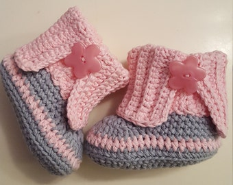 Crochet baby boots, baby girl booties, baby slippers, crochet shoes, birthday gift, baby shoes, baby shower gift
