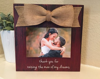 Thank you for raising the man of my dreams wedding thank you gift for mother of the groom father of the bride bridal shower gift thank you