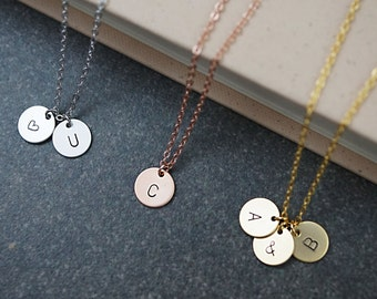 Personalized Necklace Initial Necklace Dainty charm necklace Bridesmaid Gifts Christmas gift for her Personalized jewelry monogram jewelry