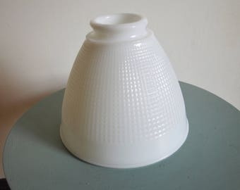 Milk glass lamp shade etsy vintage milk glass lamp shade excellent condition aloadofball Gallery