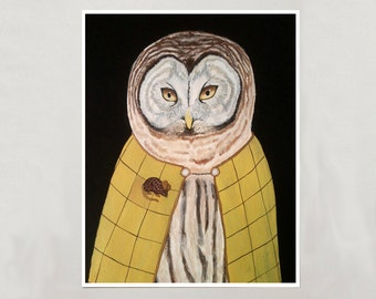 Art Print - Owl - Signed by Artist - 3 Sizes - S/M/L