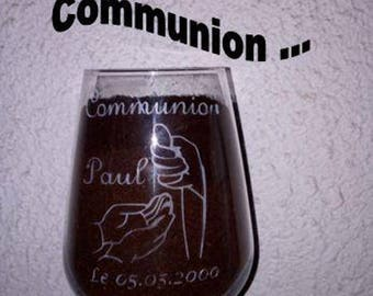 Special glass souvenir commuion