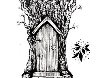 Lavinia Stamps Clear Rubber Stamp - Fairy Door