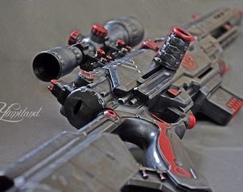 Custom Nerf Longstrike with scope   Steampunk Nerf Gun   Nerf Longstrike   Custom Nerf Gun   Custom Painted Nerf Gun   Modified Nerf Gun