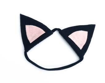 Baby Cat Costume - Black Cat Ear Headband - Cat Ear Headband - Black Cat Headband - Newborn Costume - Baby Cat Ears - Nylon Headband