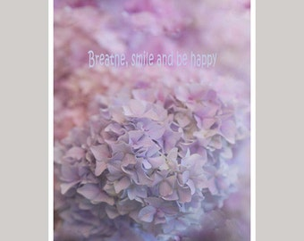 Hydrangea photography, flower picture, lavender wall art, french country decor soft pastel artwork, dreamy floral art print pale pink purple