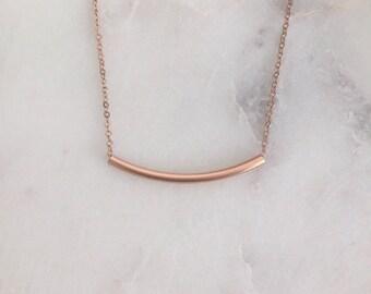 Rose Gold Bar Halskette