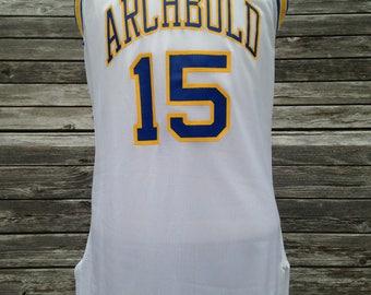Vintage 90s Archbold Blue Streaks basketball Jersey by Champion - Size 40 - Medium - Archbold High School