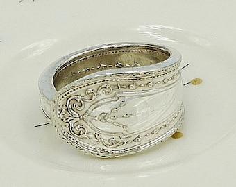 "REGULAR PRICE 27.00! Spoon Ring Jewelry Vintage Flatware Upcycled Silverware ""Hampton Court"" Year 1926"