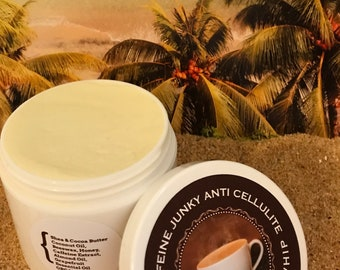 Caffeine Junky Anti Cellulite Cream It's Chock Full of Cellulite + Stretch Mark Banishing Ingredients + Caffeine Extract    4 Ounce Jar