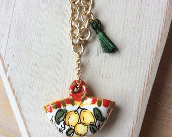 Sicilian Coffee Necklace