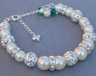 Birthstone Jewelry, Personalized Birthday Bracelet, Birthstone Gift, Bridesmaid Birthstone, Birthday Gift, Birthstone Bracelet