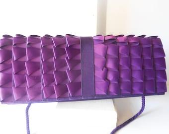 Purple Evening Bag, Vintage Purple Purse, Clutch Handbag, Purple Clutch, Jewel Tone, Glamorous Purple Bag, Special Occasion EB-0650