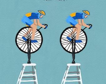 Deux Champs // Cycling dada pun art print