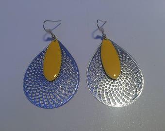 Print Yellow earrings