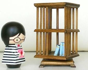 Miniature Furniture: Revolving Bookcase