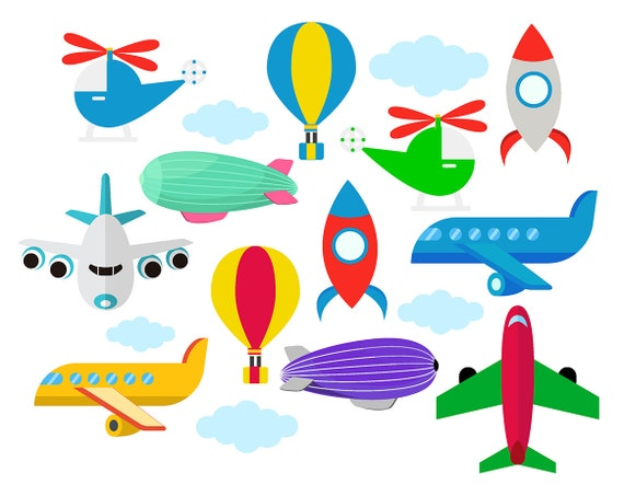 sale planes clipart airship helicopters clip art dirigible rh etsystudio com planes clip art and pictures plane clip art free