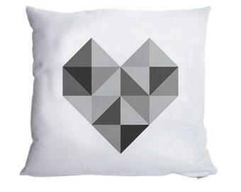 Fluffy Cuddle Pillow Heart